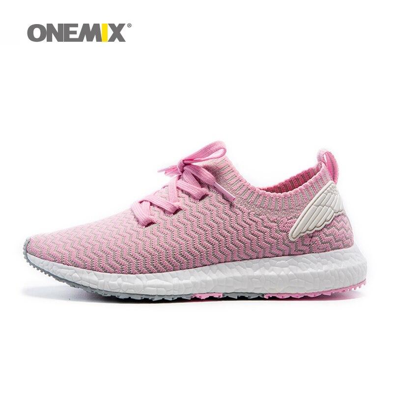 Onemix Спортивная прогулочная обувь для женщин Открытый тренер обувь для мужчин среднего Увеличение Женщины Бег run обувь Размер 36- 45
