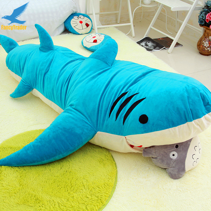 Fancytrader Huge Giant Shark Sleeping Bag Beanbag Sofa Bed Carpet Tatami Plush Stuffed 2 Colors Ft90358 In Movies Tv From Toys Hobbies On Aliexpress