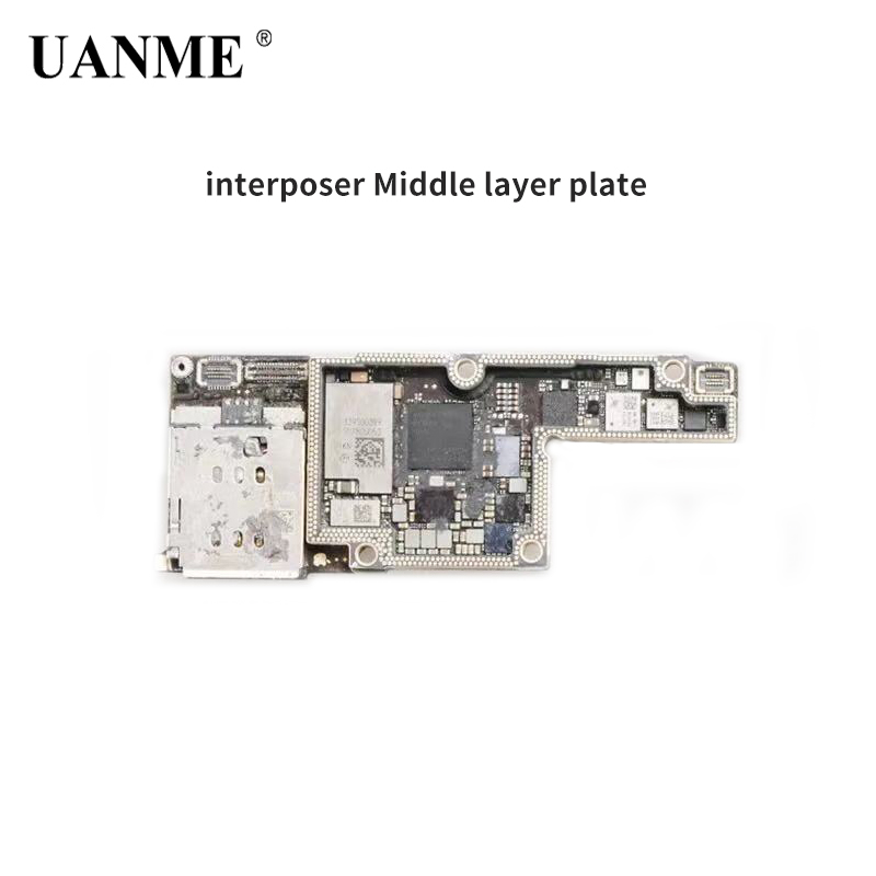 UANME For Iphone X Double-stacked AP Board And PF Board Connector BGA Reballing Middle Frame Middle-Level Layer Board Separater
