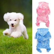 Dog Raincoat Waterproof Sun Protection Clothing Summer New Thin Four Feet Teddy Pet Clothes For Small Dogs Puppies