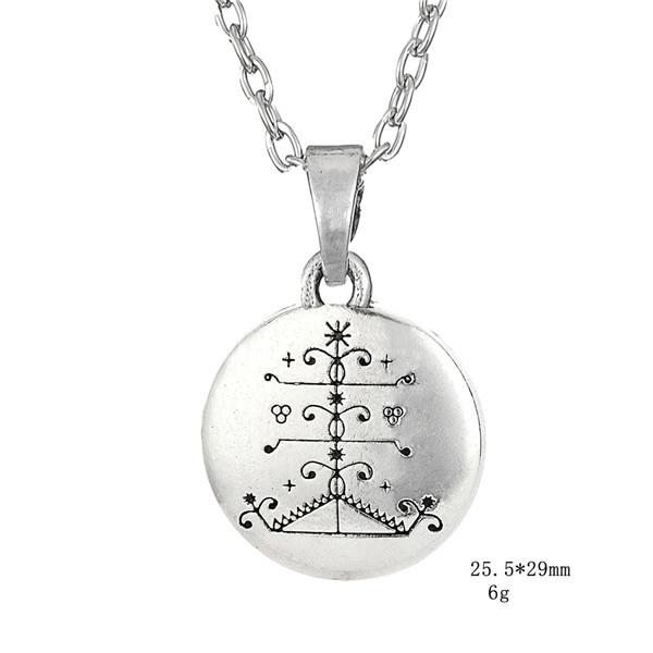US $4 98 |Lemegeton Ogou Feray Voodoo Loa Veve Pendant Necklaces Vodoun Lwa  Talisman for Victory Jewelry Hoodoo Amulet Jewelry for Men -in Pendant