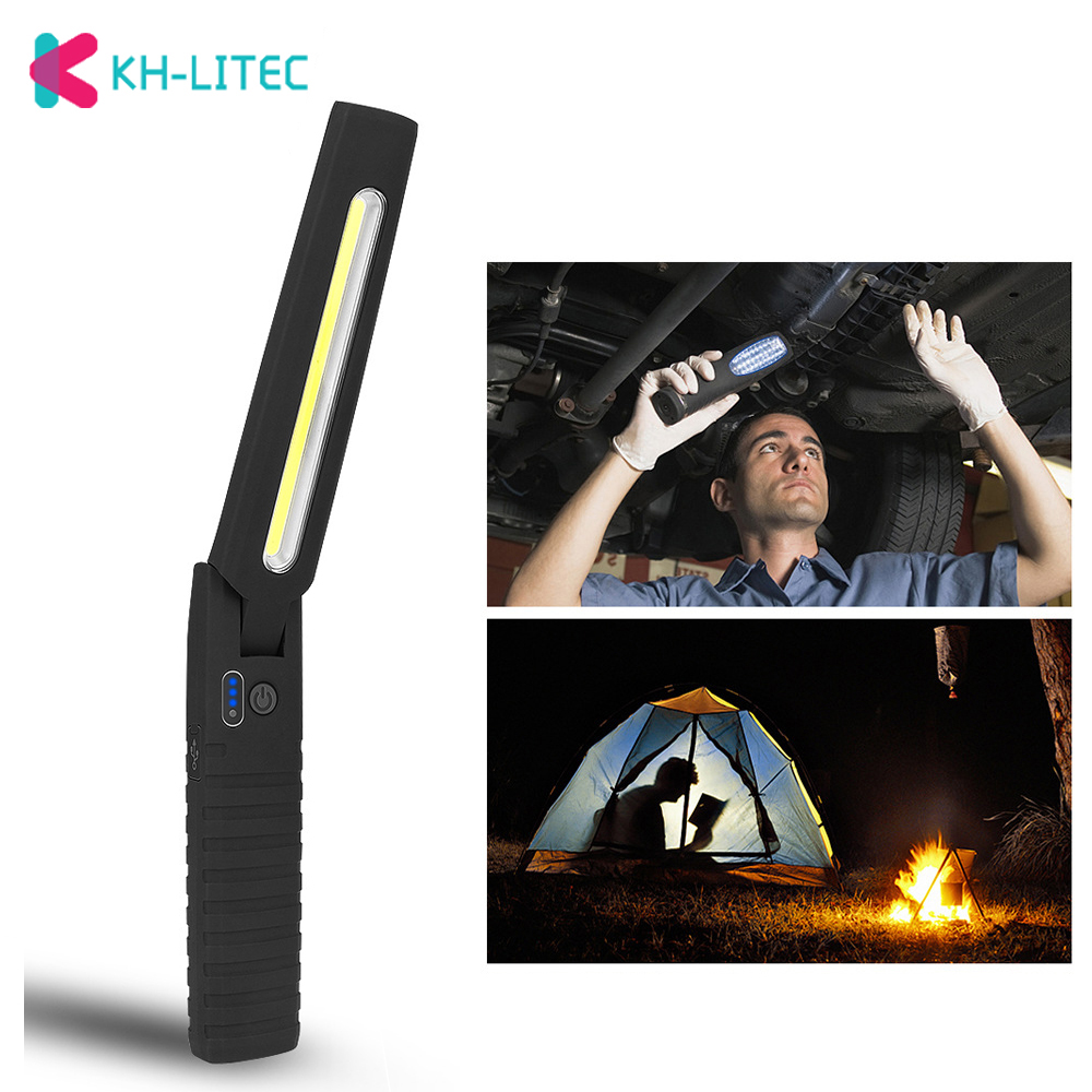 Led Flashlight Portable COB Torch USB Rechargeable Magnetic Outdoor Shock Resist