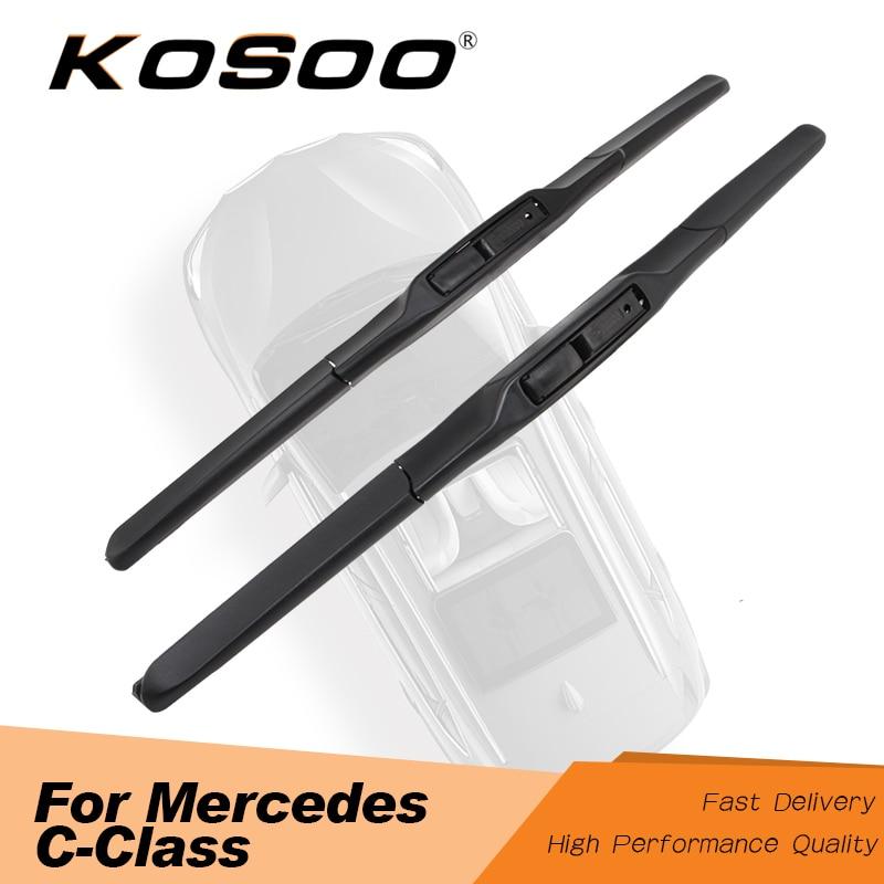 KOSOO For Mercedes Benz C-Class W203 W204 W205 C200 C300 C180 Model Year From 2000 To 2017 Auto Car Windscreen Wiper Blades