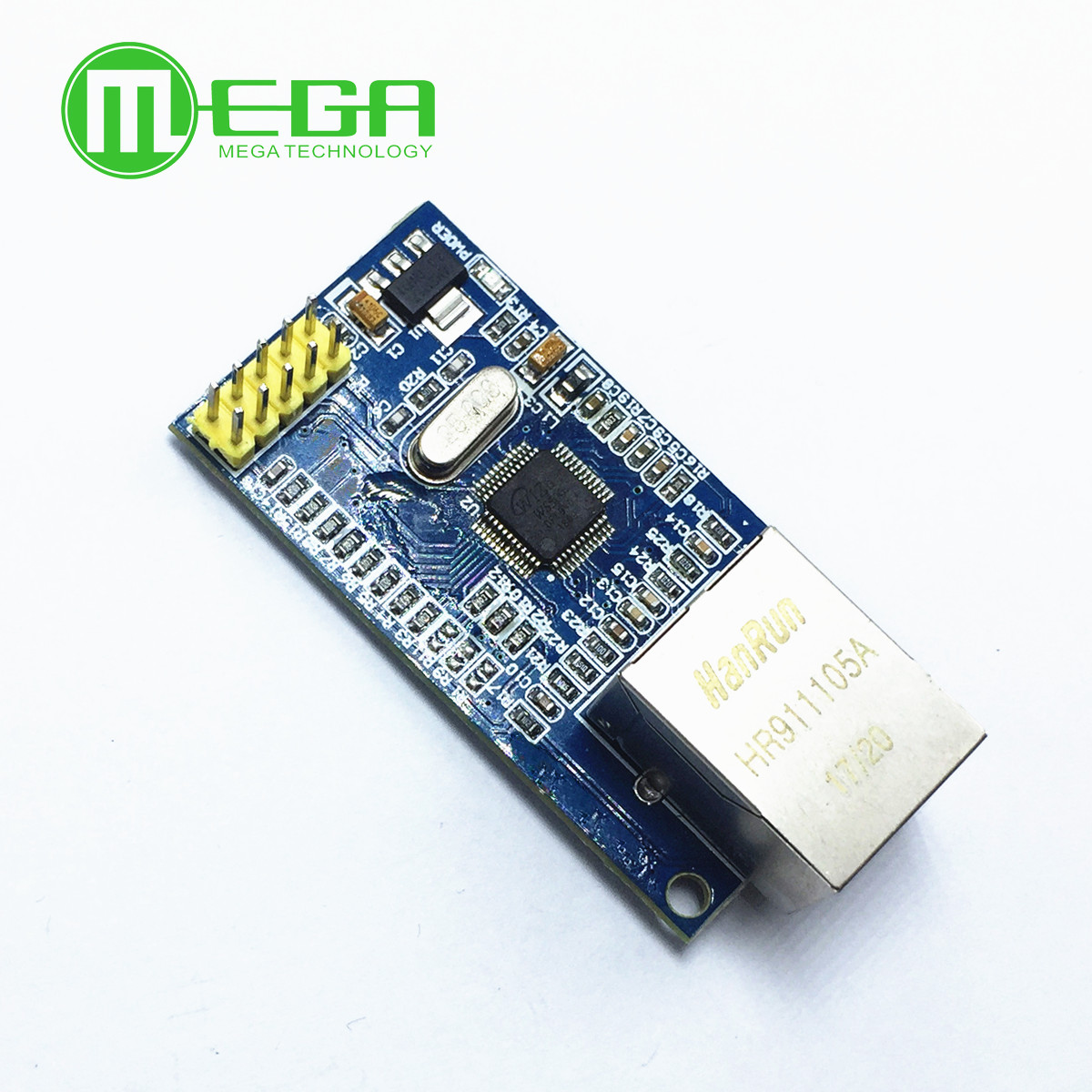 1pcs For Arduino W5500 Ethernet Network Modules For Arduino TCP/IP 51/STM32 SPI Interface 3.3V 5V I/O MCU