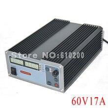 New upgrade Compact Digital Adjustable DC Power Supply OVP/OCP/OTP MCU Active PFC 60V17A 170V-264V + EU + Cable