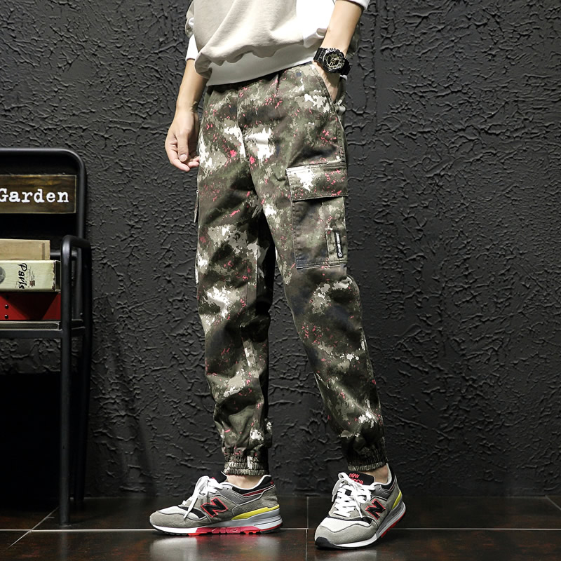 2019 New Joggers Men Hot Sale Casual Camouflage Pants Man Quality  Cotton Elastic Comfortable Trousers Mens Plus Size M-5XL(China)