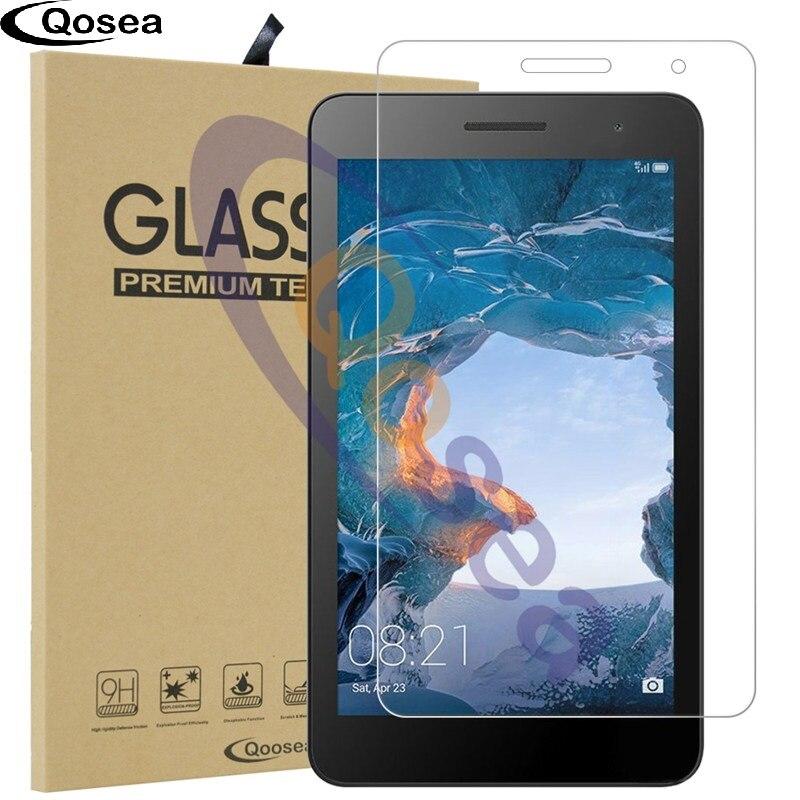 Qosea Pour Huawei Mediapad T3 7 3G BG2-U01 Écran Protecteur 9 H 2.5D Effacer MediaPad T3 7 3G En Verre Trempé Tablet Film De Protection