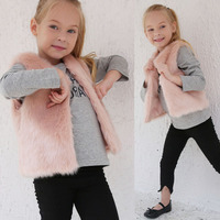 Free Shipping Fashion Faux Fur Vest MT0835