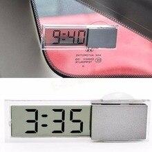 Всасывающая бортовой чашка lcd автомобильные цифровые электронные автомобиль автомобиля часы
