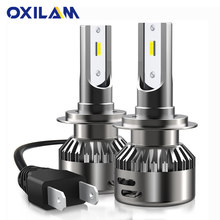 OXILAM H7 LED Canbus Headlight Bulb CSP Chip 48W 16000LM 6000K White Mini Car Lights Auto Head Lamp for BMW Mercedes 12V(China)
