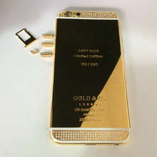 24K 24KT 24CT GOLD ROSE GOLD PLATINUM Limited Editioin Diamond Crystals Back Cover Housing Replacement LOGO