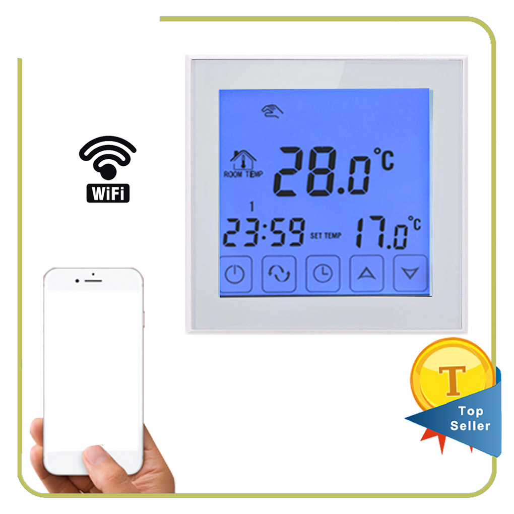 Programmable Thermostat Wifi Function Electric Heating Temperature Controller LCD Display Touchscreen Thermostat 16A 100ml 130w electric temperature regulation heating mantle temperature adjustable pthw
