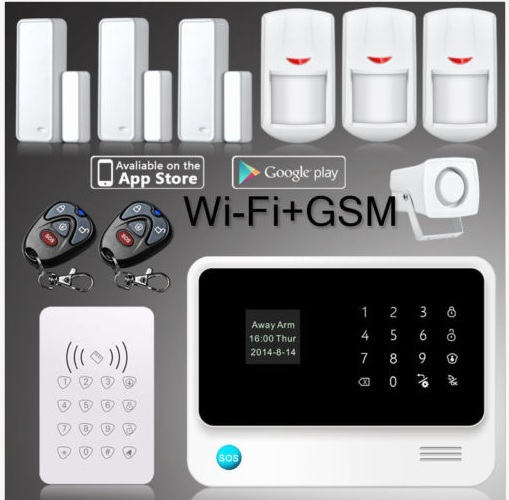 433mhz WIFI GSM GPRS alarm system APP control sensor wireless Gsm Security Alarm System for home surveillance gsm alarm kit g90b plus home security gsm alarm system with gprs wireless home alarm system support andriod ios app collocation alarm sensor