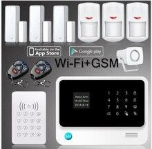 433mhz WIFI GSM GPRS alarm system APP control sensor wireless Gsm Security Alarm System for home  surveillance gsm alarm  kit
