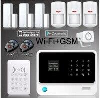 Fabbrica WIFI + GSM + GPRS sistema di allarme android senza fili di Gsm Sistema di Allarme di Sicurezza per la casa con la macchina fotografica di alta qualità