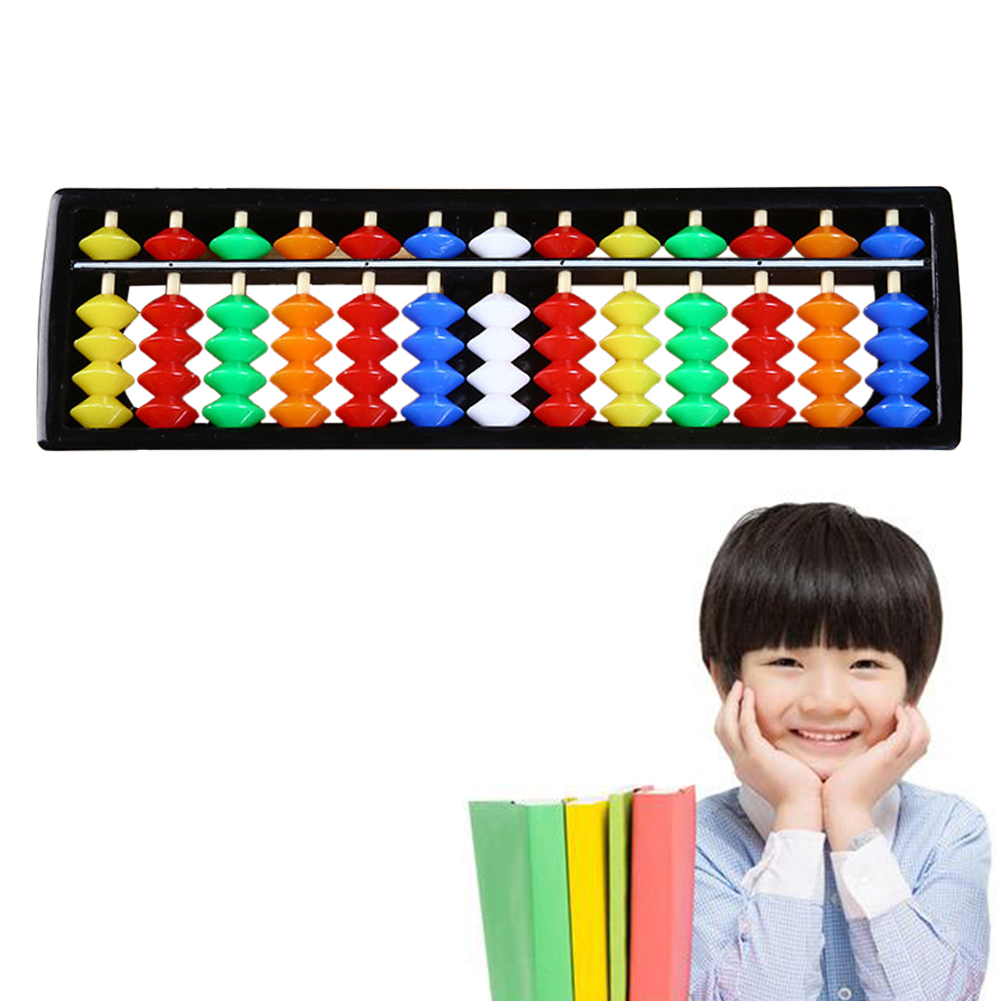 ABS Beads Calculating Tool Colorful Gift Math Toys Arithmetic 13 Rods Unisex Student Kids Educational Children Abacus Soroban