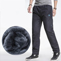 3XL Winter Spring Fleece Thicken Men's casual Pants Heavyweight Men's Trousers Winter Waterproof Slim Fitted Sweatpants