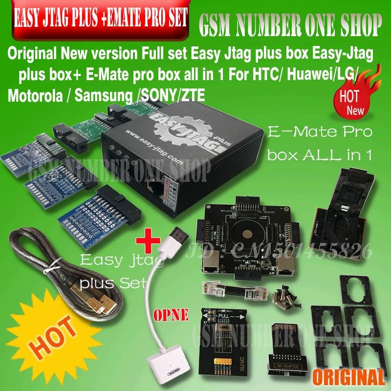 New Version Full Set Easy Jtag Plus Box Easy-Jtag Plus Box+ EMATE PRO EMMC Socket  For HTC/ Huawei/LG/ Motorola /Samsung /SONY