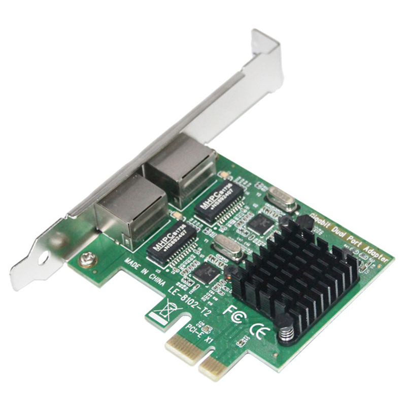 Dual-Port Slot Pci-E X1 Rj45 Interface Gigabit Ethernet Network Card 10/100/1000Mbps Rate Intel 82575 Adapter