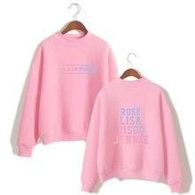 Black Pink Sweatshirts Kpop Pullover Loose Casual Fleece Hoodies Winter Turtleneck Fleece Unisex Tracksuit Hoodies Black Pink