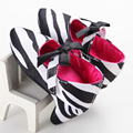 2017 the spring and autumn baby girls shoes leopard zebra toddler kids princess silk patchwork color shoes First Walkers 0-1Y