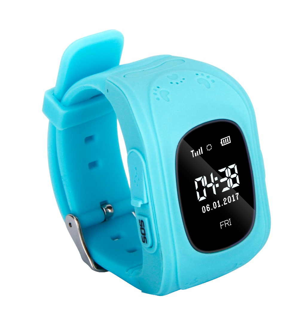iRULU Anti Lost LCD Child Smart Watch Compatible IOS & Android GPS Tracker SOS Monitoring Positioning Phone Kids GPS Baby Watch