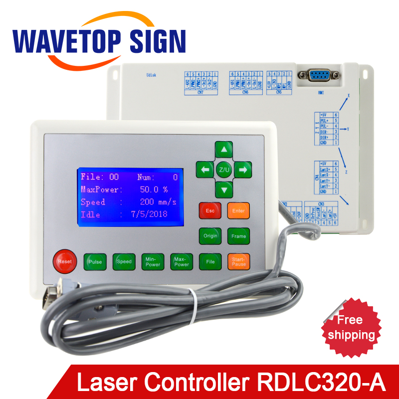WaveTopSign Ruida RD RDLC320-A Co2 Laser DSP Controller for Laser Engraving and Cutting Machine RD320 цена