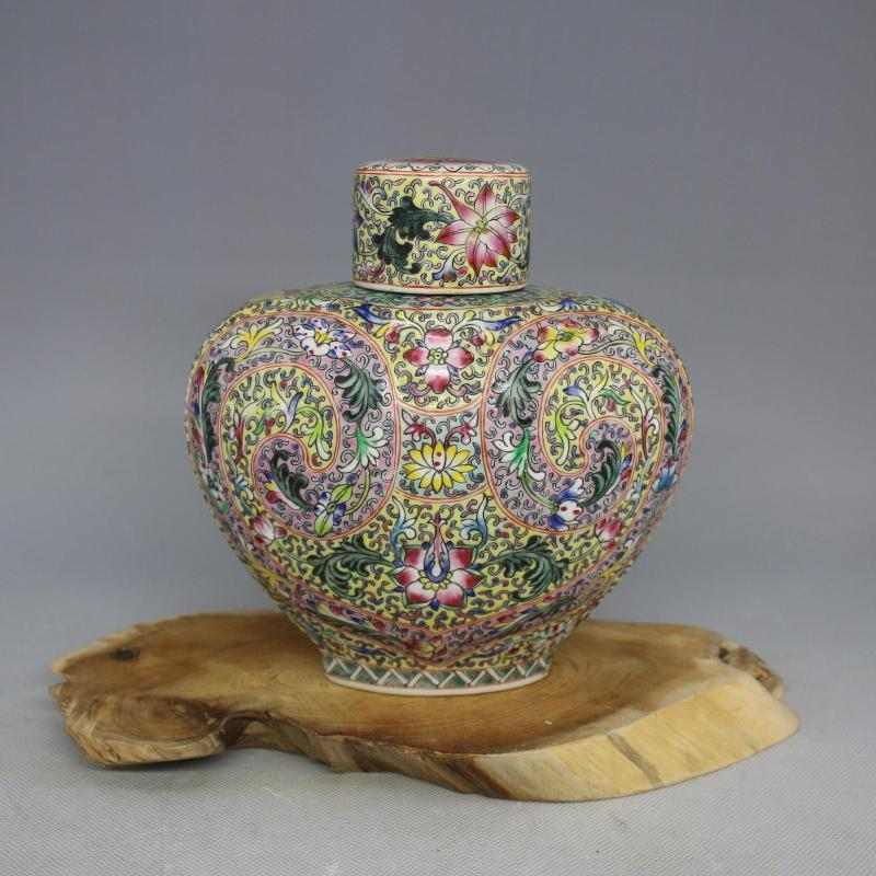 Antique Old Chinese porcelain pot,Pastel Lotus bottles,with mark,home Decoration, collection & adornment, Free shipping
