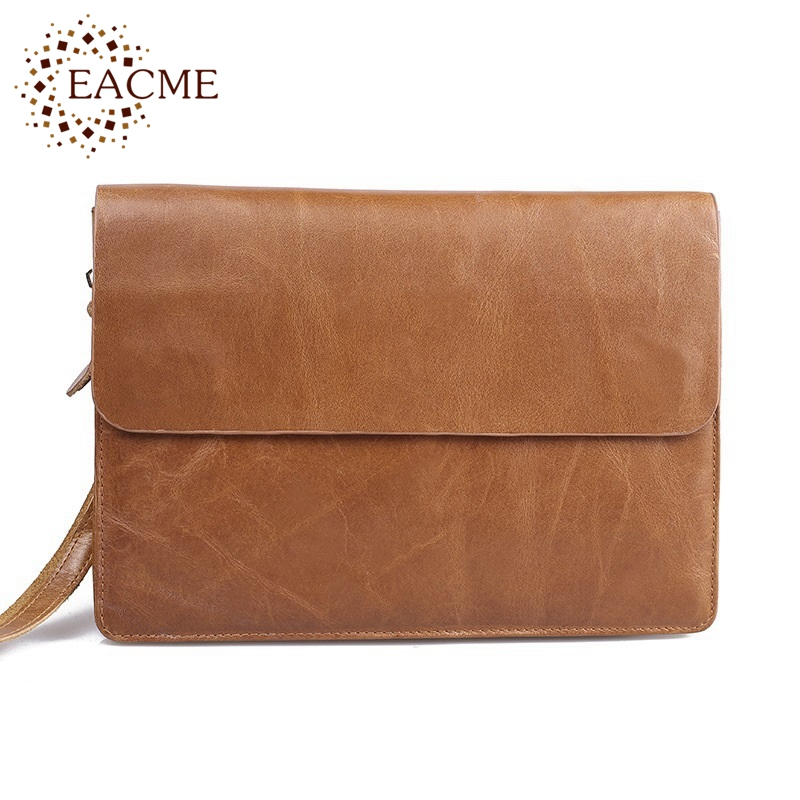 EACME Business Bag Vintage Handbags Men Wallets Leather Real Cowhide Men s Wallet Stylish A4 Bag