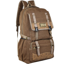 50 liters large capacity canvas backpack mens travel bag outdoor big mountaineering casual fashion