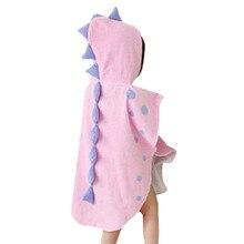 SAGACE халаты, детский халат для детей, одежда для сна и халат, детское полотенце, банный халат с рисунком динозавра, пижамы с капюшоном, 19May28