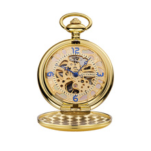 Pocket Watch Pocket & fob Watches Top Brand Luxury Steampunk Men Watches Gold Mechanical Men Watches Relogio Masculino Mecanico