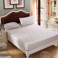 Contracted Style White Mattress Cover Bed Sheets Solid Fitted Sheet High Density Sanding Quilted Bedspreads Twin Queen King Size