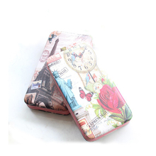 2016 Fashion Famous Design Women Purse New England Style Clutch For Teenager Girls Ten Patterns Landscape Printed Wallet