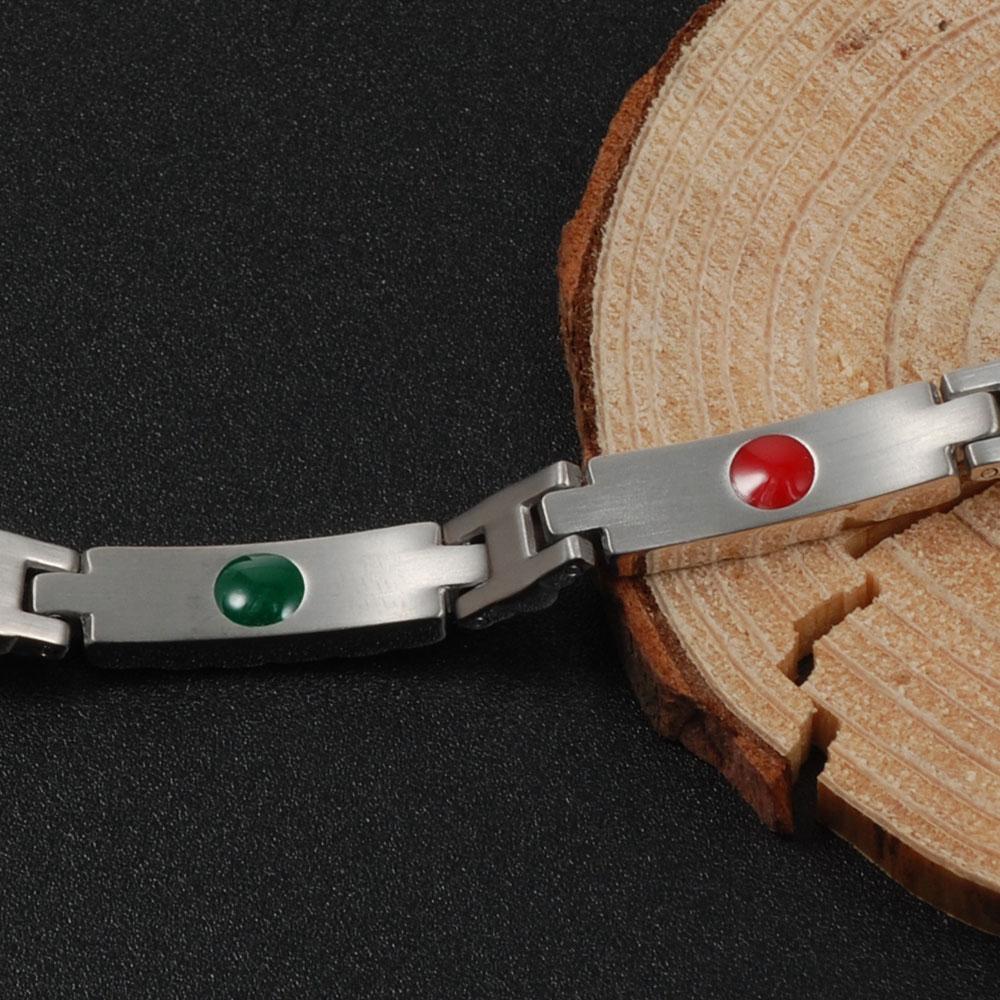 Wollet Health Energy Bio Magnetic Pure Titanium Bracelet Bangle Magnet Germanium Infrared Negative Ion Bracelet For Women