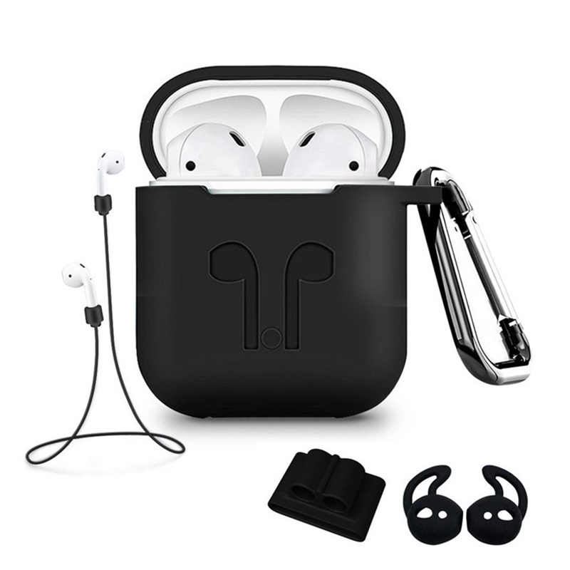 5Pcs/Set Silicone Wireless Bluetooth Earphones Case For Airpods 1 2 Apple TWS Earbud Earphone accessories Protective Cover