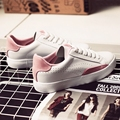 Бесплатная доставка 2017 весна новая мода женская обувь квартиры повседневная спорт дышащий PU смешанный цвет платформы обувь женская обувь марки