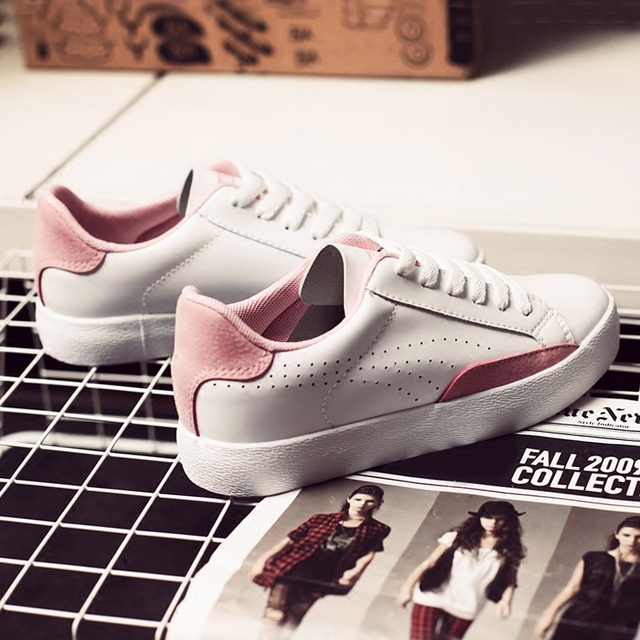 free shipping 2017 spring new fashion women shoes flats casual sport breathable PU mixed color platform shoes women  brand shoes