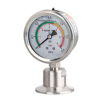 1 5in 50 5mm Tri Clamp Membrane Pressure Gauge SS304 Stainless Steel Diaphragm Gauge