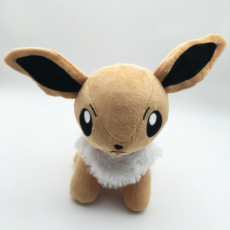 Free Shipping Cute 11 Cartoon Monster Anime Eevee Standing 28cm Soft Stuffed Toy Kids Plush Doll Gift Dolls