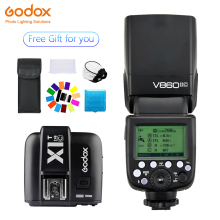 цена на Godox Ving V860II V860II-C Speedlite  flash TTL+X1T-C Transmitter Wireless Flash Trigge for Canon Camera 1100D 1000D 7D 6D 60D