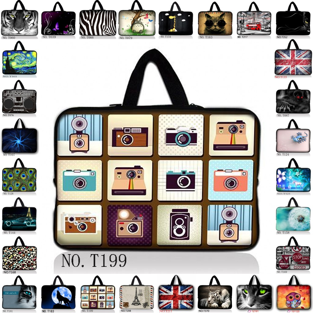 Many Designs 7 9.7 10.6 11.6 15.6 10 12 13 14 15 17 Laptop Tablet Sleeve Case Bag Pouch Soft Neoprene Bag