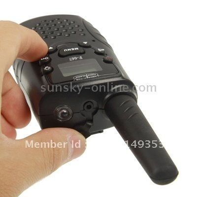 Hot Sales Mini 22 Channels FRS/GMRS LCD Screen F-667 Two-way Radio (2pcs/ pair) with Built-in Flashlight