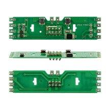 2pcs HO масштабная модель поезда распределительная плата питания 1: 87 со статусными светодиодами для моделирования напряжения постоянного и переменного тока
