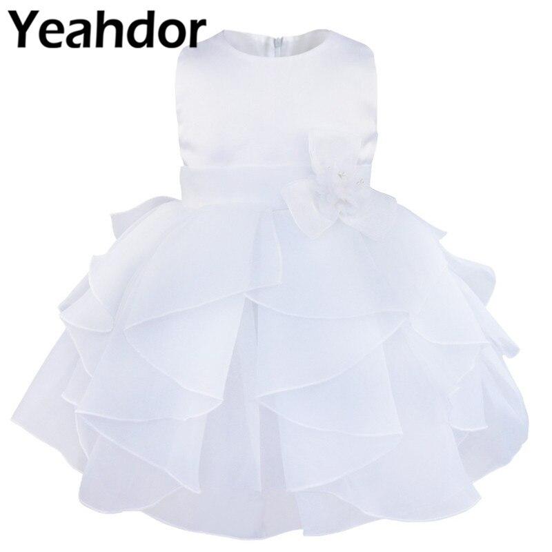 Flower Girl Dress For Baby Girl Princess Dress Formal Party Gowns Kids Wedding Organza Tutu Dress Children Clothing Robe Filles