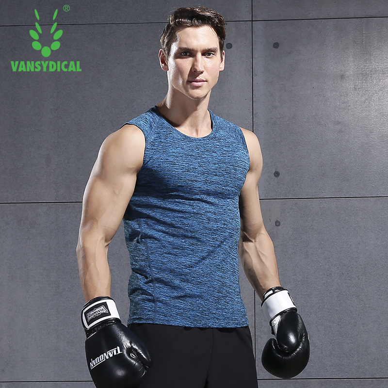 VANSYDICAL Mens Outdoor Sports T shirts Summer Cotton Breathable Short Sleeve Round Neck Running T Shirt Sleeveless Vest in Running T Shirts from Sports Entertainment