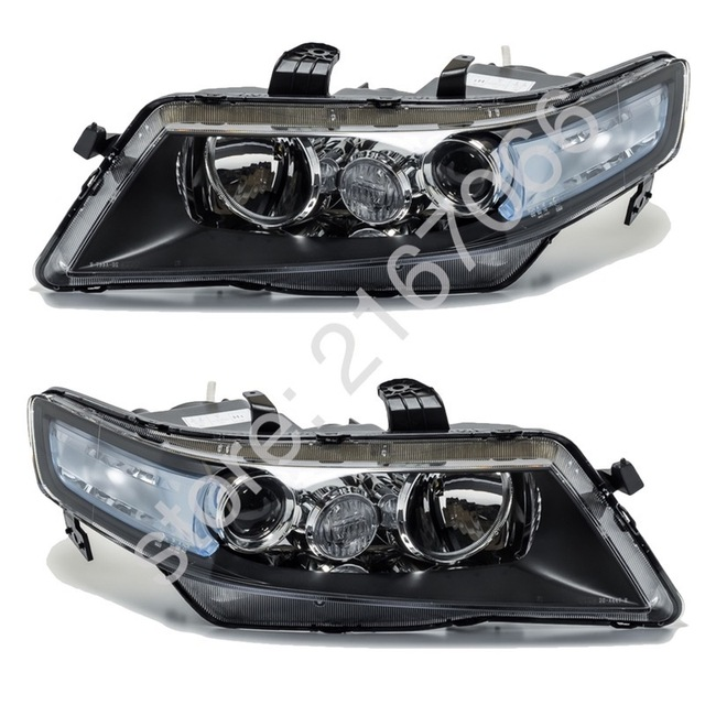 2pcs Headlights For Honda Accord 2005 2006 2007 2008 Set Right Left Pair Electric Leveling Halogen