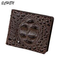 Men's wallet Crocodile bone Crocodile skin Men's wallet British style Leather wallet Crocodile tail bone wallet Man 005tb