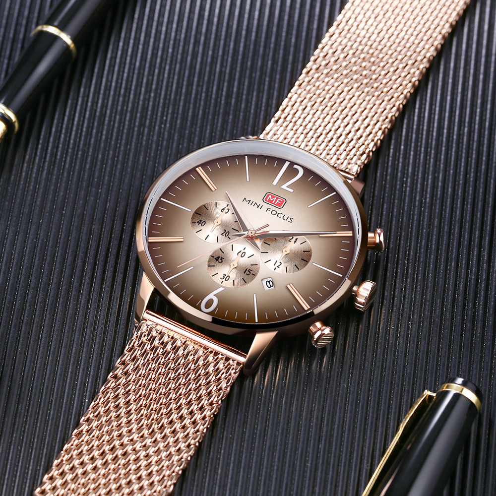 MINIFOCUS Top Brand Fashion Luxury Men Watch reloj de pulsera de - Relojes para hombres - foto 5