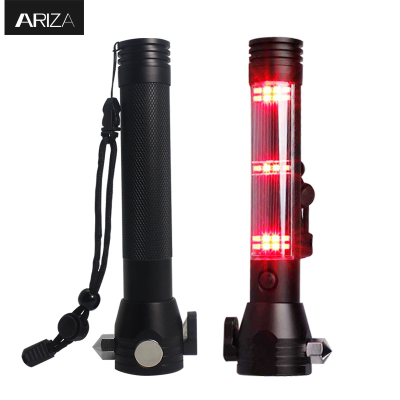 Ariza Car Safety Emergency Hammer  Window Breaker Safety Hammer With Seatbelt Cutter LED Light Multifunction Rescue Hammer Tool
